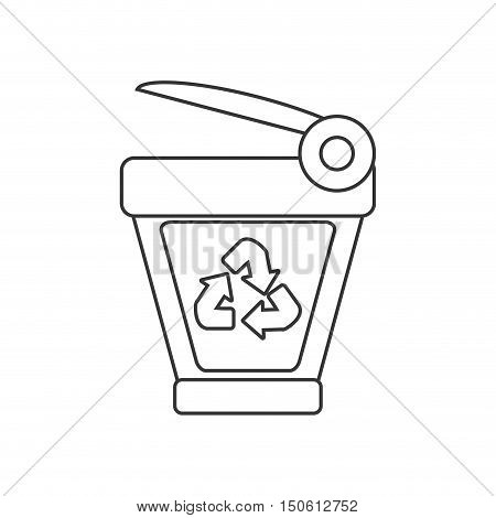 Trash and recycle icon. Ecology renewable and conservation theme. Isolated design. Vector illustration