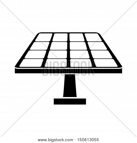 Solar panel  icon. Ecology renewable and conservation theme. Isolated design. Vector illustration