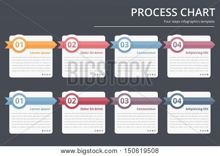 Process Chart, Flow Chart Template, Infographics Design Elements