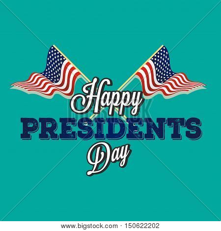 Happy presidential elections on a blue background Vector illustration