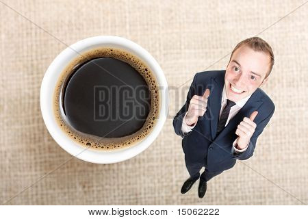 A delicious cup of coffee