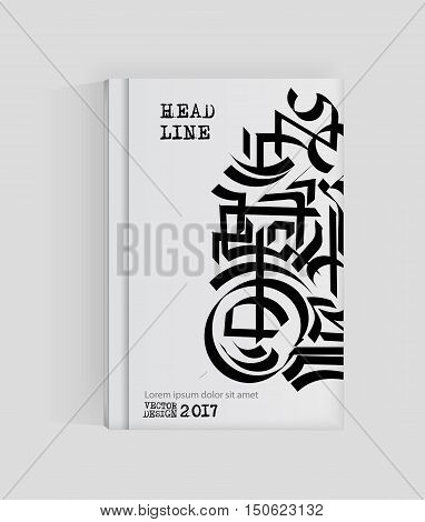 Monochrome abstract design. Strip paint on brochure Graffiti element isolated on white. Calligraphic banner paints. Liquid ink. Background for banner card poster identityweb design.