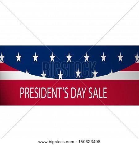 Presidential elections discount on a white background. Vector illustration