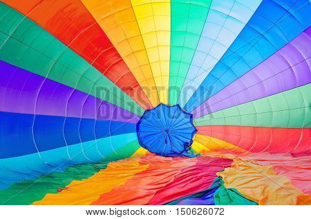 Colored parachute background. A background with an abstract view of a colorful parachute.