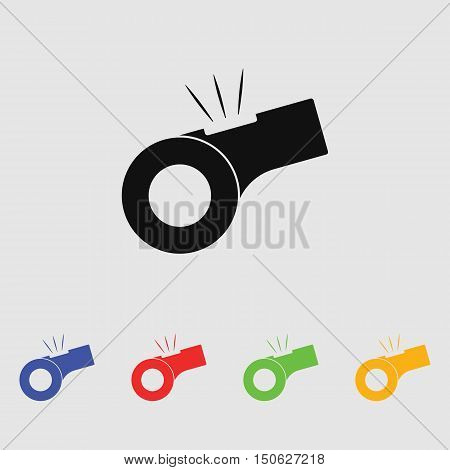 Whistle vector icon for web and mobile