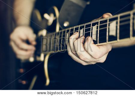 Musician Playing Electric Guitar