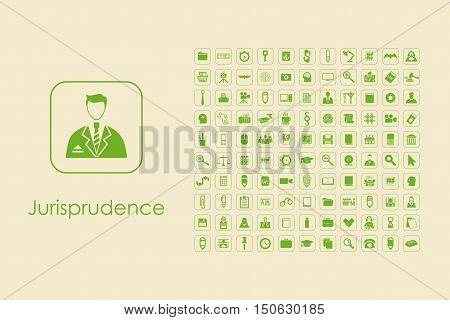It is a set of jurisprudence simple web icons