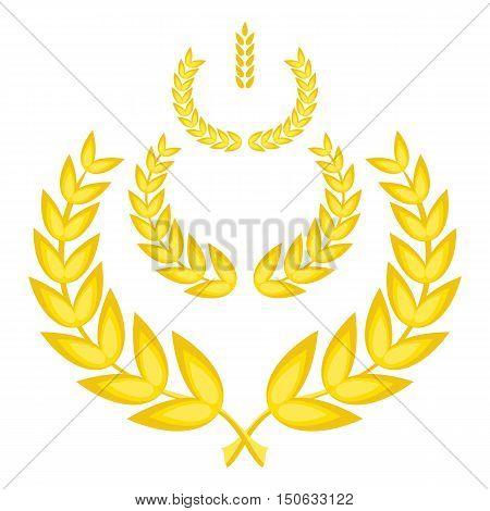 Vector Gold Laurel Wreaths