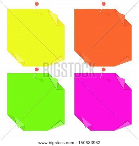 Bright Note Origami Stickers