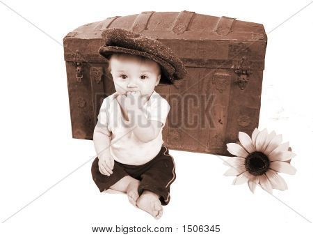Adorable Vintage Baby Photo