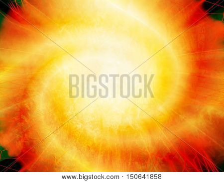 Abstract background - bright fiery explosion. 3D illustration