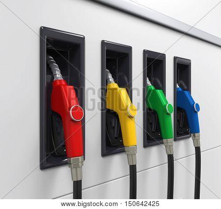 Gas Fuel Pump Illustration . 3D render