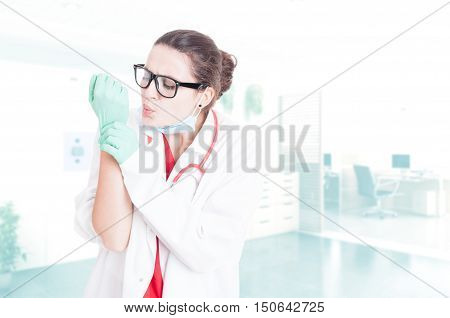 Young Doctor With Wrist Pain