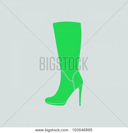 Autumn Woman High Heel Boot Icon
