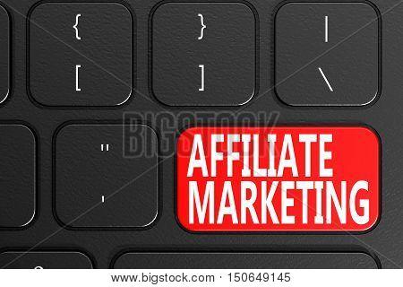 Affiliate Marketing On Black Keyboard