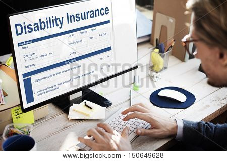 Disability Insurance Page Graphic Concept