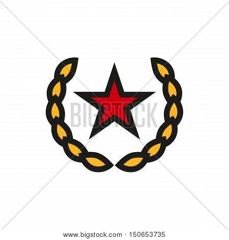 Socialism communism emblem icon on white background Created For Mobile Web Decor Print Products Applications. Icon isolated. Vector illustration