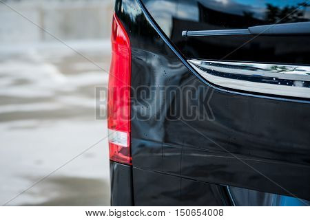 Taillights Of A Luxury Passenger Car