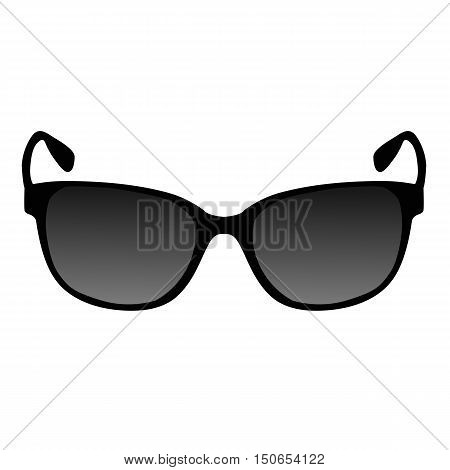 black icon sunglass. Template for design and decoration. vector illustration.