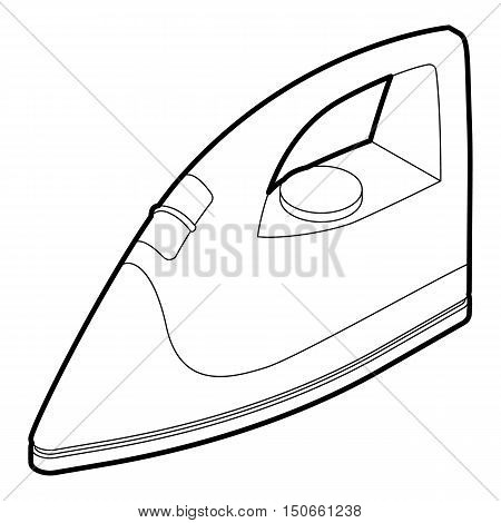Iron icon in outline style on a white background vector illustration