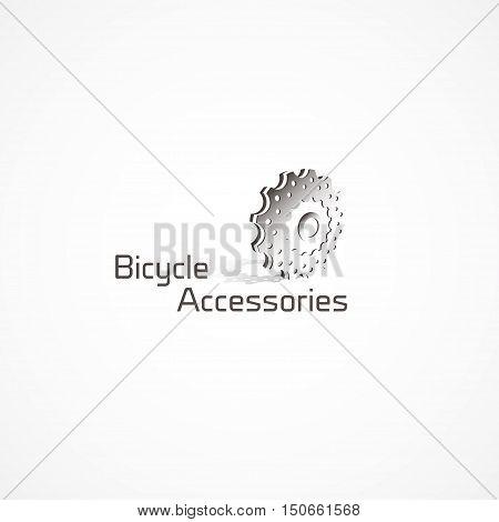 Figure bike cassettes, a logo, vector, sports themes.