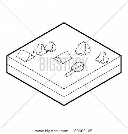Flood icon in outline style on a white background vector illustration