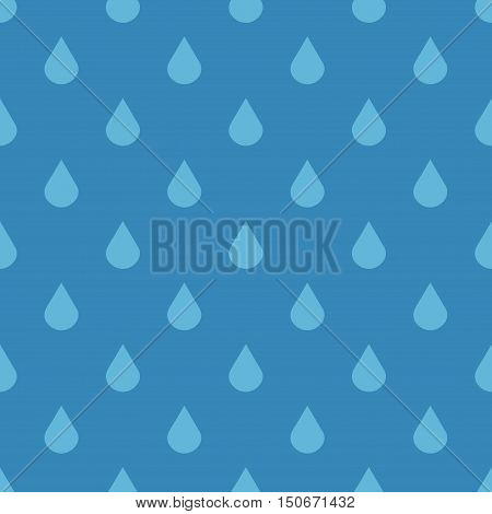 Blue vector water drops seamless pattern. Wet abstract design illustration