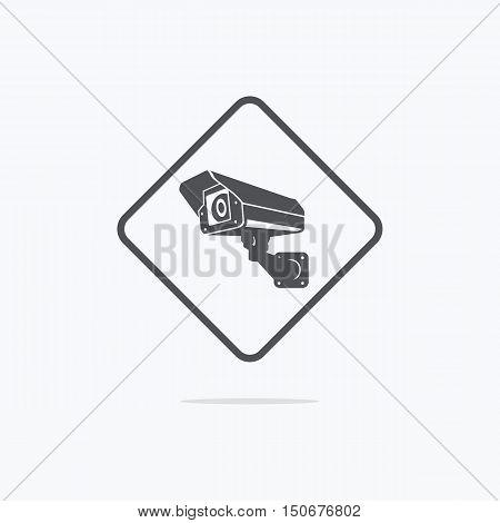 Surveillance camera icon. CCTV cameras vector icon.