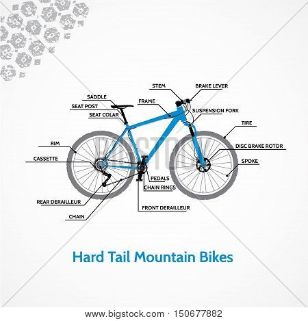 Schematic illustration of a mountain bike .
