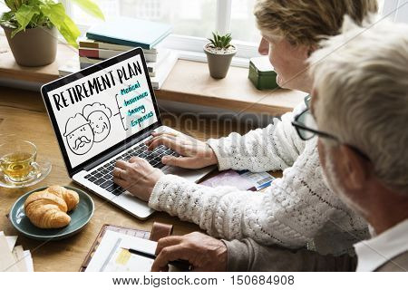 Retirement Plan Senior People Graphic Concept