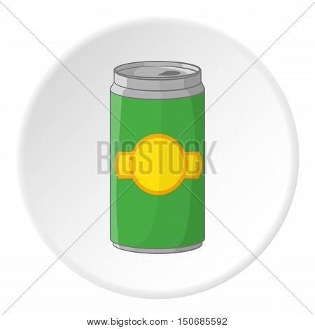 Aluminum cans for beer icon in cartoon style isolated on white circle background. Alcoholic beverage symbol vector illustration