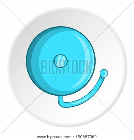 Fire alarm icon in cartoon style isolated on white circle background. Equipment fire symbol vector illustration