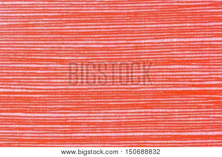 Closeup and detail on orange fabric background or backdrop