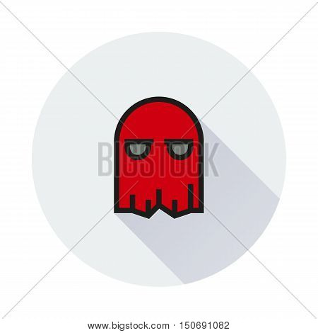 mask icon on round background Created For Mobile Infographics Web Decor Print Products Applications. Icon isolated. Vector illustration