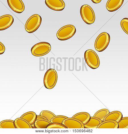 coins light background illustration vector coins jingle