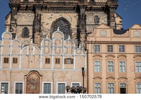 Architecture And Soap Bubbles On Old Town Square In Pragueinter