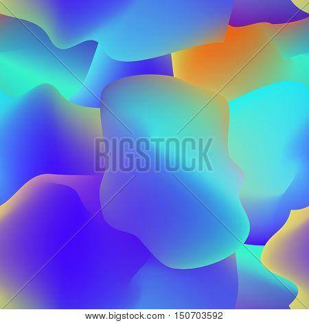 Fluid colorful seamless pattern. Vector design illustration.
