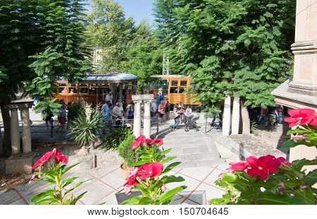 Soller Train Station With Flowers