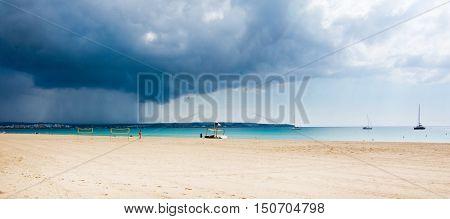 Autumn Rain Volleyball Beach