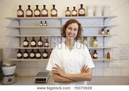 Pharmacist With Shelf