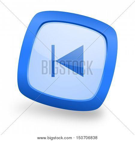 prev blue glossy web design icon