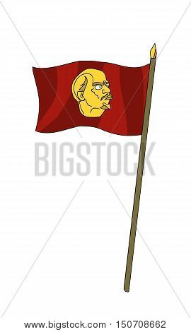 symbol of communism and bright future the victory over capitalism and slavery. Vector illustration on a white background