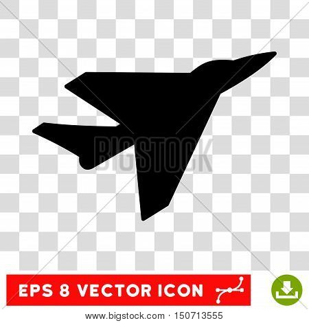 Vector Intercepter EPS vector icon. Illustration style is flat iconic black symbol on a transparent background.
