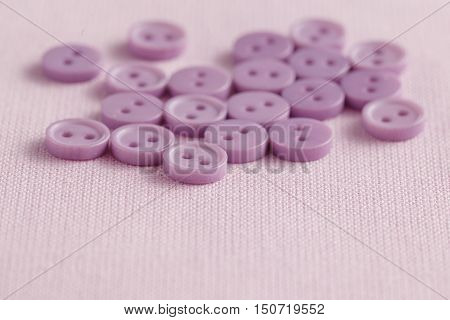 More Pink buttons on the background fabric