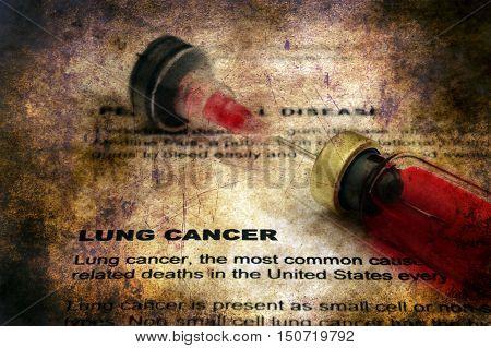 Lung Cancer Grunge Concept