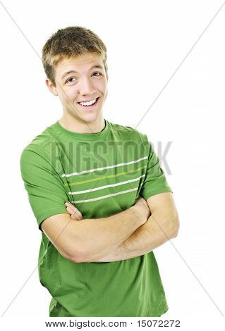 Happy Young Man With Crossed Arms