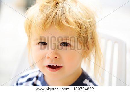 Baby Boy With Milk Moustache