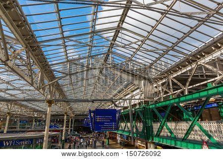 Inside The Waverly Station In Edinburgh, Scotland