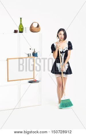 Pretty Girl In Maid Costume
