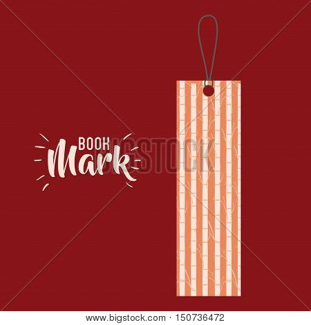 Bookmark label tag with branches icon. Guidebook decoration reading and literature  theme. Colorful design. Vector illustration